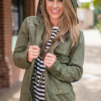Plaid Adventures Jacket, Olive