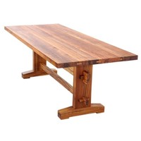 Indoor or Outdoor Dining Table in Solid Teak, Can Be Custom Ordered