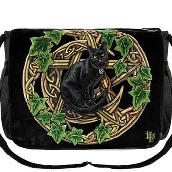 Cat & Pentagram Messenger Bag at Every Witch Way Online Shop