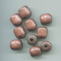 wood macrame barrel beads 13mm x 15 mm 10 pieces large brown wooden beads jewelry craft findings