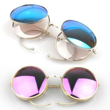 Metal Vintage Fashion Glasses Sunglasses [6592749891]