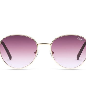 Quay Crazy Love Gold Sunglasses / Purple Lenses