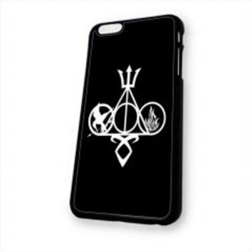 Harry Potter, Percy Jackson, Mortal Instruments, Hunger Games, and Divergent for iphone 6 case