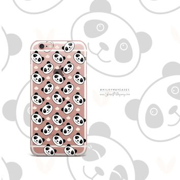 Panda Smiles - Clear Case Cover Phone Case