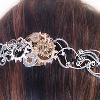 Steampunk Gears and Cogs Metal Headband