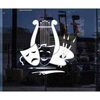 Custom Window Decal and Wall Stickers Vinyl Decal Theatre Arts Music Painting Great Decor Unique Gift (ig1836w)