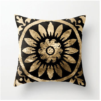 Decorative Throw Pillow Sepia Pattern 1 - accent cushion - home decor - dorm decor back to school accessories