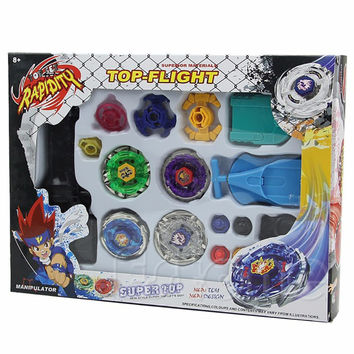 Beyblade Metal Spinning Beyblade Sets 4 Gyro Box For Sale Fusion 4D Fight Master Beyblade String Launcher Grip Kids Toys Gifts