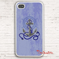 anchor iPhone 4 Case, iphone 4s case, Nautical anchor iPhone 4 Case, palette Design iphone hard case for iphone 4, iphone 4S