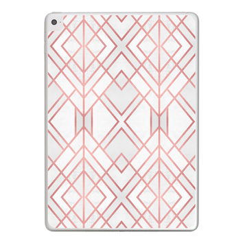 Rose Gold Geo iPad Tablet Skin
