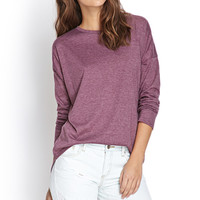 Heathered Dropped Sleeve Top