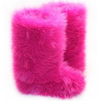 Hot Pink – Fluffy Wuffies Classic Tall Boots
