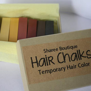 Natural Colored Hair Chalks  6 Pack  Temporary by ShareeBoutique
