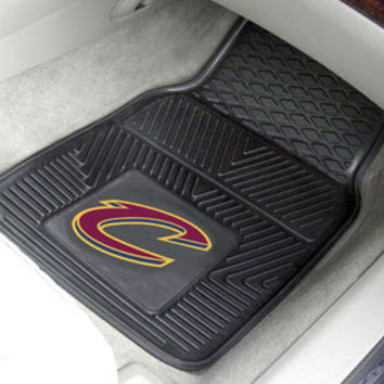 "NBA - Cleveland Cavaliers Heavy Duty 2-Piece Vinyl Car Mats 18""x27"""