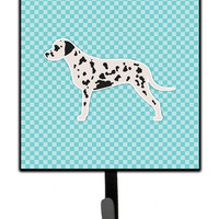 Dalmatian  Checkerboard Blue Leash or Key Holder BB3683SH4