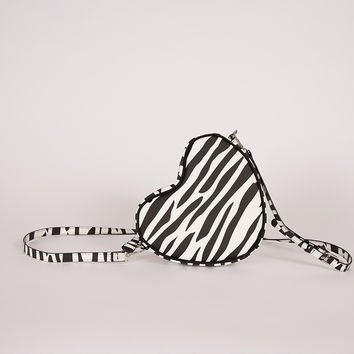 Lazy Oaf Black Zebra Heart Bag - Everything - Categories - Womens