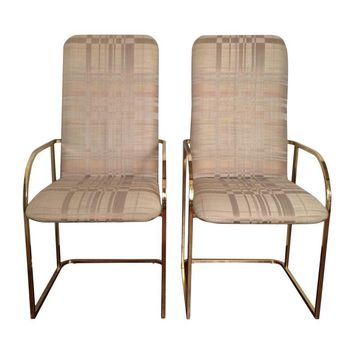 Pre Owned Milo Baughman For DIA Dining Chairs   Set Of 4