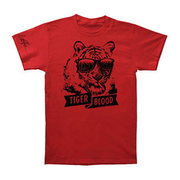 Charlie Sheen Men's  Tiger Blood T-shirt Red