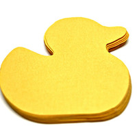 Rubber Duck paper die cuts / Baby Shower Ducky Hang Tags / Rubber Duck Card Embellishments / Party Favor Tags / Scrapbooking Projects