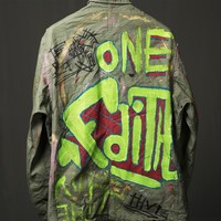 Mens Real Hand Painting Unique Field Jacket at Fabrixquare