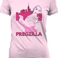 Funny Pregnancy Shirt Pregzilla T Shirt Gifts For Expecting Mothers Maternity T-Shirt Joke Ladies Tee MD-364