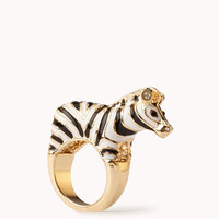 Lacquered Zebra Ring