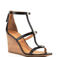 MARC BY MARC JACOBS Open Toe Wedge Sandals - Cube Bow
