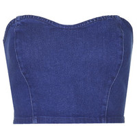MOTO Indigo Stretch Bralet - Blue
