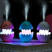 Home Decor Portable Mini Egg Air Humidifier Aromatherapy Diffuser