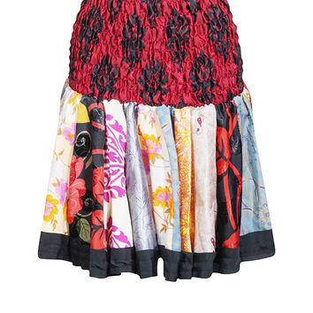 Mogul Interior Women's Silk Mini Colorfull Flirty Skater Skirts OneSize (Red,Black): Amazon.ca: Clothing & Accessories