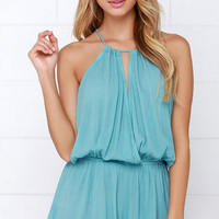 Show Me the Anemone Turquoise Romper