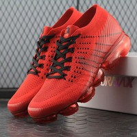 CLOT x Nike Air VaporMax Vapor Max 2018 Flyknit Men Red Sport Running Shoes 849560-009