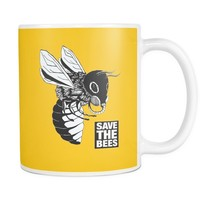 """Gasmask - Save the Bees"" 11oz. Mug"