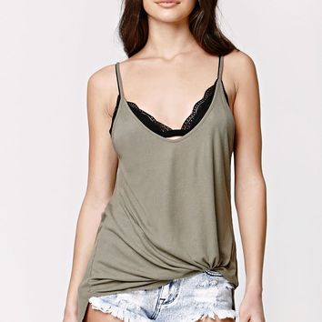 Nollie Minimal Triangle Lace Bra - Womens Tee - Black