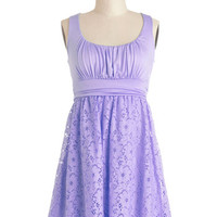 ModCloth Pastel Mid-length Tank top (2 thick straps) A-line Artisan Iced Tea Dress in Lavender