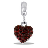 DaVinci Beads January Dangle Garnet Heart Jewelry