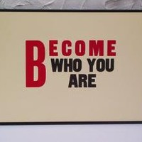Become Who You Are Letterpress Print by aardvarkonsea on Etsy