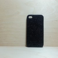 For Apple iPhone 4 / 4s Black Glitter Case