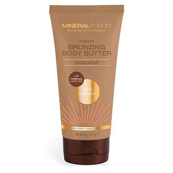 Mineral Fusion Instant Bronzing Body Butter, Light/Med - 5 Oz