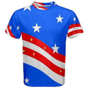 Bright American Flag Men's Cotton Tee