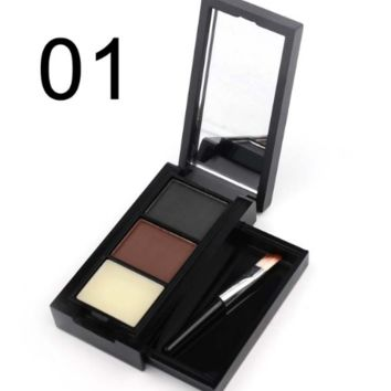 Eyebrow color Brush with Natural Three-Dimensional Waterproofing Make up Cosmetic