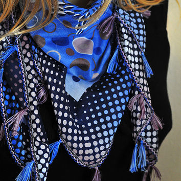 Square Scarf, Scarves, tassel, Women Accessories, fashion scarves, Women Scarves, fashion scarf, women scarf, for her, gift ideas,