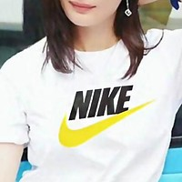 NIKE Trending Men Women Casual Print Short Sleeve Cotton T-Shirt Top