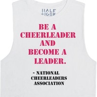 Be A Cheerleader And Become A Leader-Unisex Snow T-Shirt