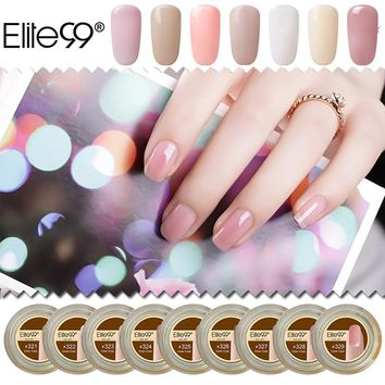 Elite99 15ml 29 Colors Transparent Nail Gel Semi Stransparent Color Extension UV Camouflage Jelly Builder Stand Gel Varnish