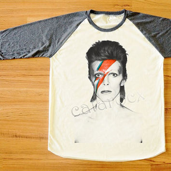 David Bowie Shirt Ziggy Stardust Shirt Rock Music Shirt Long Sleeve Shirt Women T-Shirt Men T-Shirt Unisex T-Shirt Baseball Tee Shirt S,M,L