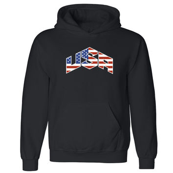 Zexpa Apparel™ USA Triangle Pattern Unisex Hoodie USA olympics team flag Hooded Sweatshirt