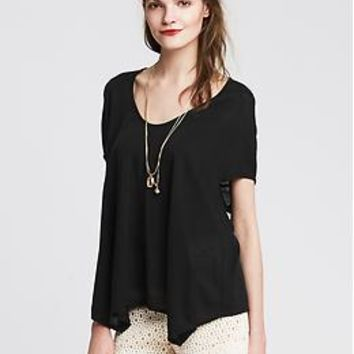 Drapey Swing Tee | Banana Republic