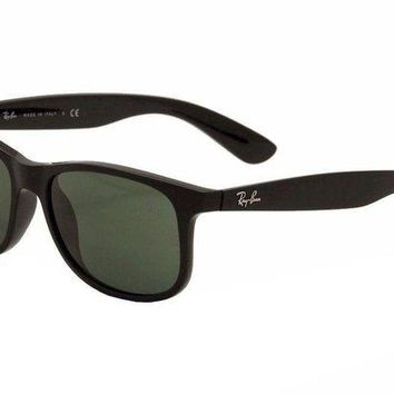 Kalete Ray Ban Men's Andy RB4202 RB/4202 RayBan 6069/71 Black Wayfarer Sunglasses 55mm