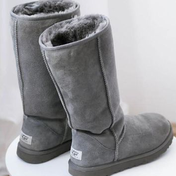 """UGG"" Women Classic Tall Gray Boots"